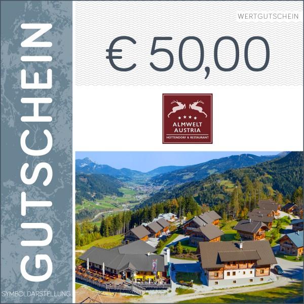 50 Euro Gutschein - Almwelt Austria